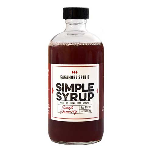 Spiced Cranberry Simple Syrup - 8oz.